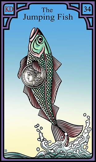 versions - Les différentes versions des  cartes Lenormand - Page 15 72dpi-34-jumping-fish