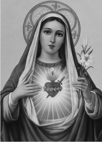 St. Mary displaying the Immaculate Heart
