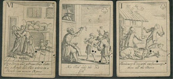 Lenthal'sl Proverb Playing Cards published between 1710 and 1720