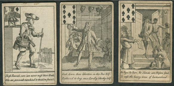 Hogarth's Delightful Playing Cards form 1723