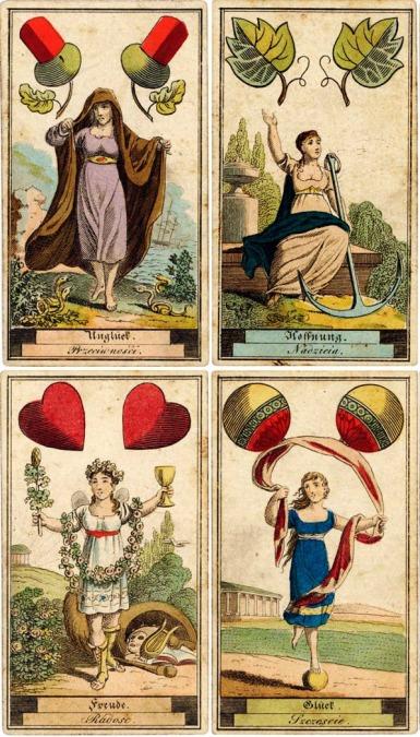 German SibillaCards 1818 Aces