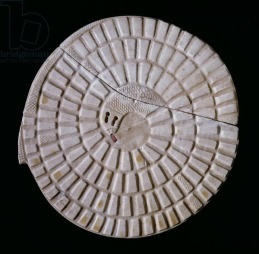 Ancient Egyptian Mehen game bord